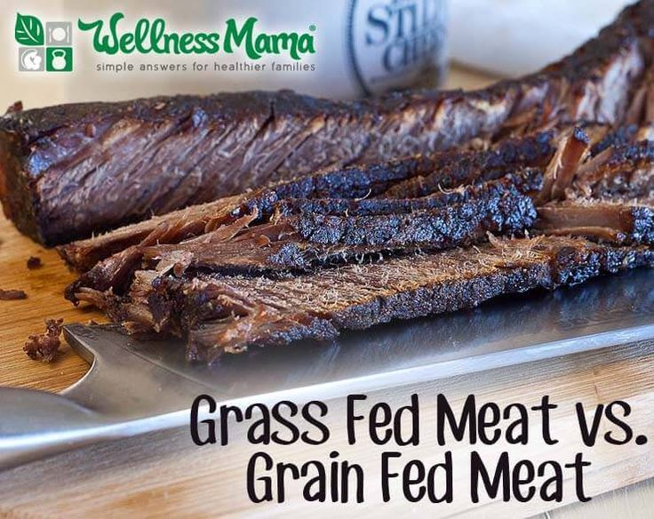 Grass fed Meat vs. Grain fed Meat - Grass fed meat has many benefits including higher amounts of CLA, stearic acid and Omega-3 but all red meat is a good source of protein, iron, and B-12.