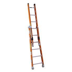Werner 6-Ft Fiberglass 300-Lb Type Ia Combination Ladder 7806