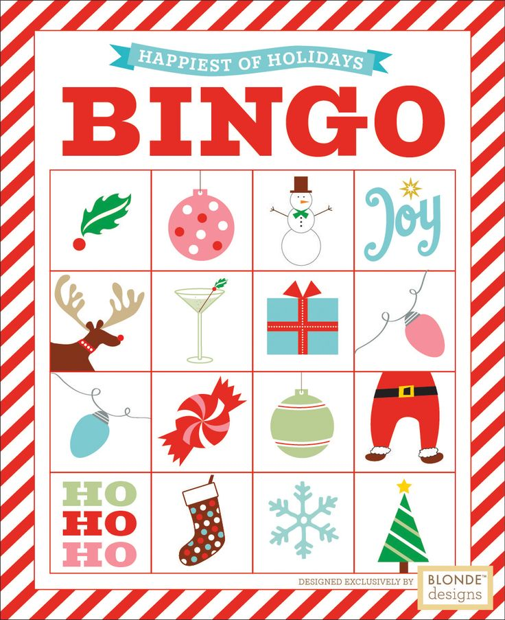 Christmas Bingo- 8 different cards!