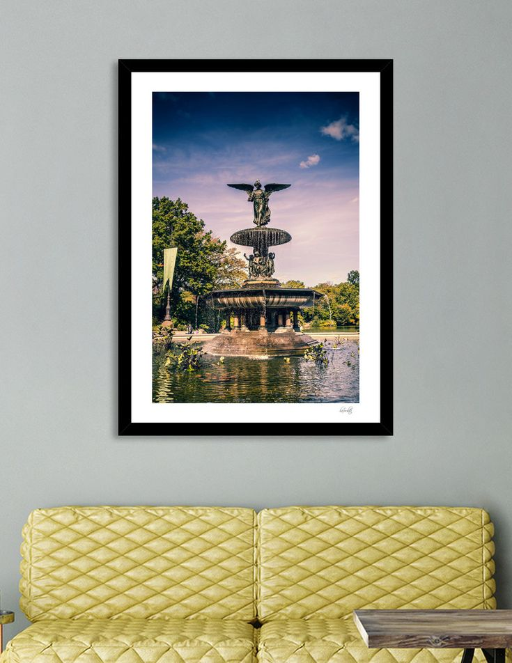 «Bethesda Fountain in Central Park», Numbered Edition Art Print by haroulita - From 18€ - Curioos