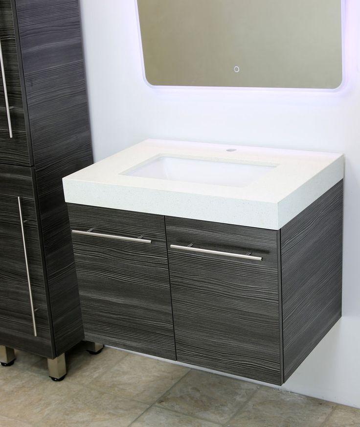 """WindBay 30"""" wall mount floating bathroom vanity sink set. Vanities sink #WindBay #Modern"""