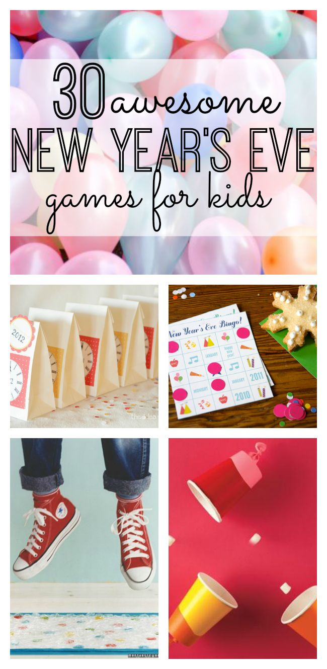 30 Awesome New Year's Eve Games for Kids. Great ideas for a New Year's Party with Kids - so much fun!
