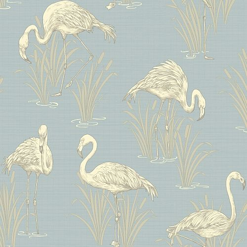 Lagoon  Soft Blue wallpaper by Arthouse