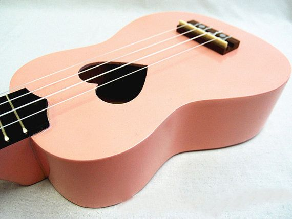 New Hole Sweet Pink with Heart Wooden Ukulele & by AnggaraShop