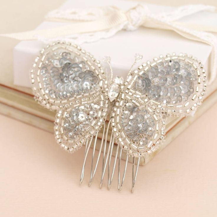 Are you interested in our Butterfly bridal hair comb? With our beaded wedding hair accessory you need look no further.