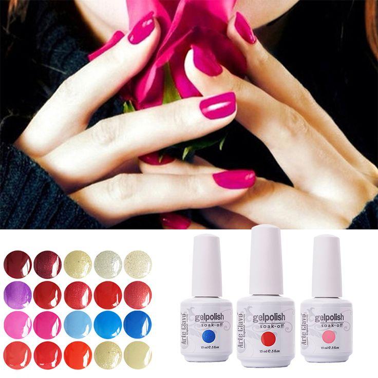 220 Colors 15ml Arte Clavo 1 Piece Lacquer Led UV Gel Nail Sticker Soak Off Gel Polish Summer Color Gel Nail Polish - http://mixre.com/220-colors-15ml-arte-clavo-1-piece-lacquer-led-uv-gel-nail-sticker-soak-off-gel-polish-summer-color-gel-nail-polish/ #NailGel