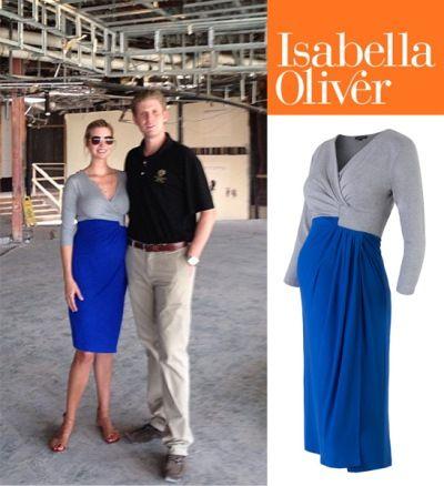 Pregnant Ivanka Trump in Isabella Oliver dress--obsessed!!!!