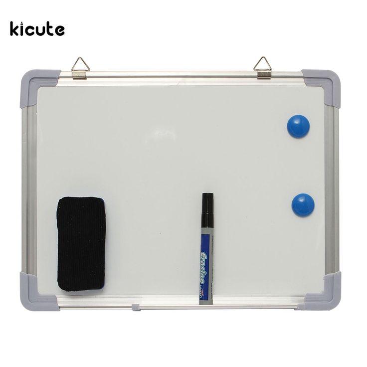 400ミリメートルx 300ミリメートル1セット磁気ドライ拭きポータブル両面ホワイトボード気づくメッセージボードプレゼンテーションオフィス学校用品