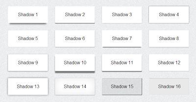 16 Box Shadow CSS3 keren
