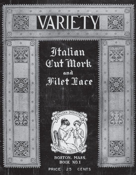 Variety _italian Cut work and Filet lace  (part 2-19 pages)