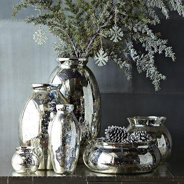 Mercury-Glass Vases #WestElm -
