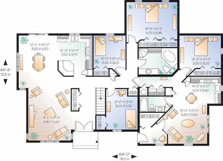 House Plans for MultiGenerational Families  Duplex Great