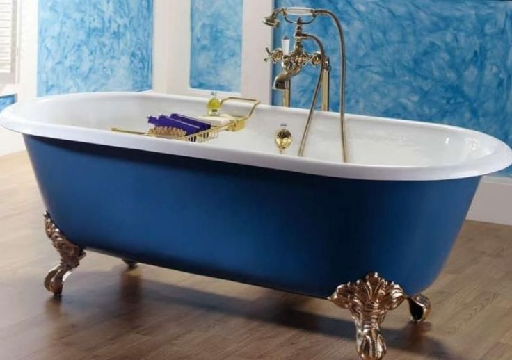 Установка чугунной ванны