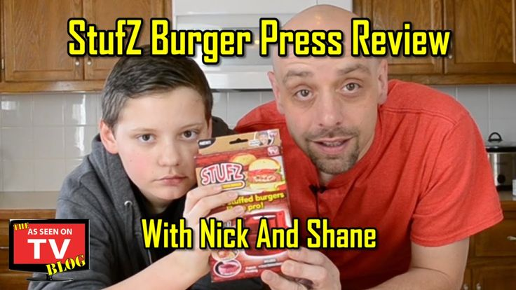 http://asseenontvblog.net/index.php/stufz-as-seen-on-tv-review-with-nick-and-shane/  For this week's review, Nick and I rolled up our sleeves and field tested the StufZ burger press. (We also talk a bit about seat belt safety!) Click the link below for our full video review!  http://asseenontvblog.net/index.php/stufz-as-seen-on-tv-review-with-nick-and-shane/  #video #stufz #burger #review #food #cooking #asotv #asseenontv #review2015