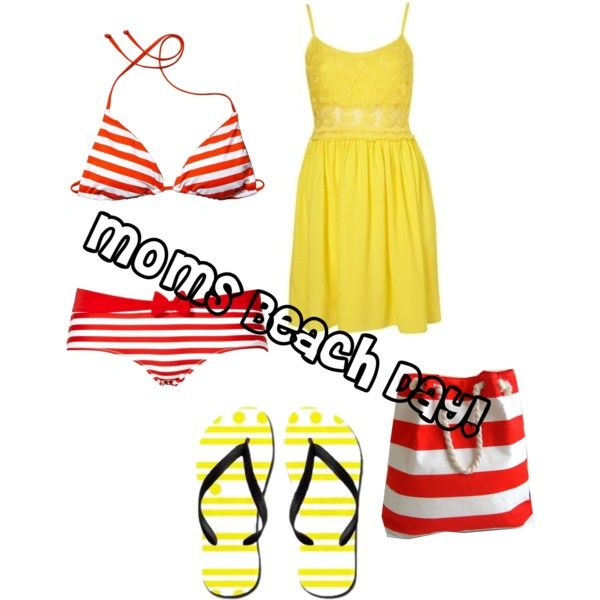 Moms Beach Day (: by scarlett-williams on Polyvore ---------------------- I'm happy to see that scarlett-williams used one of my yellow polka dot and stripes flip flops in this set :) http://www.cafepress.com/flipflopmania.848735126: Polka Dots, Beach Day, Moms Beach