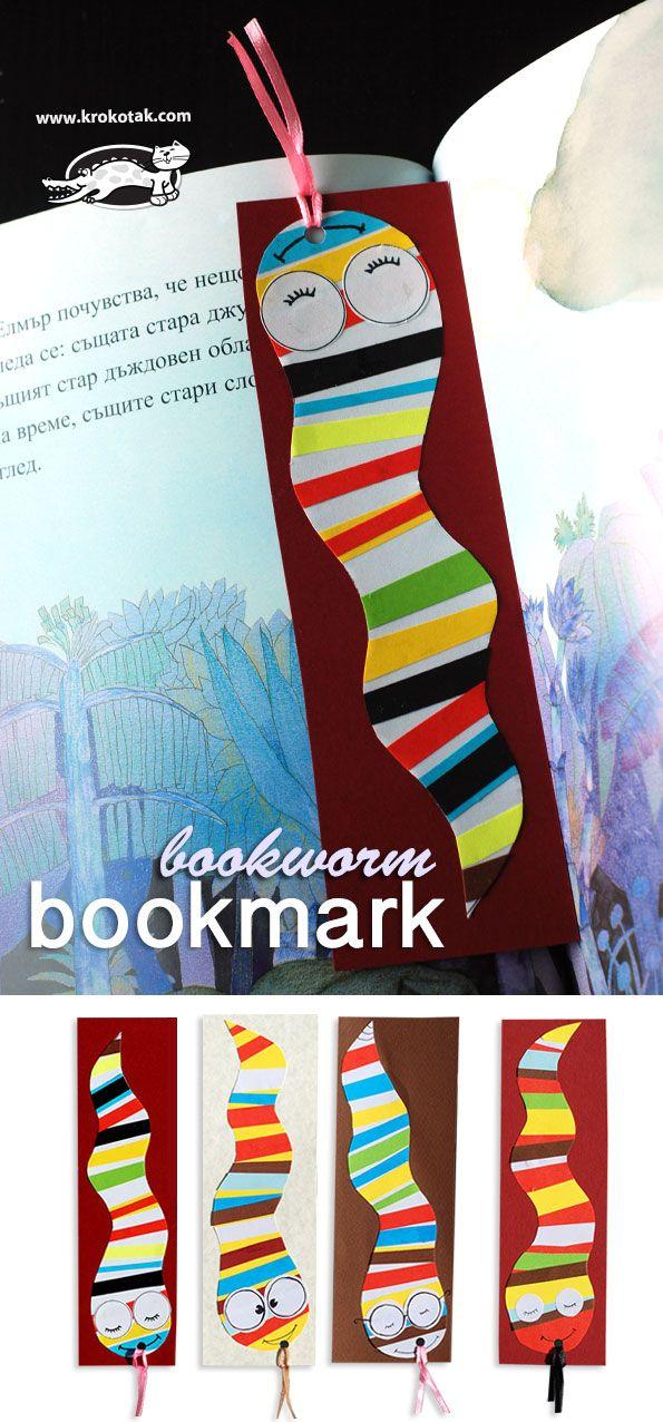 Bookworm Bookmark | krokotak