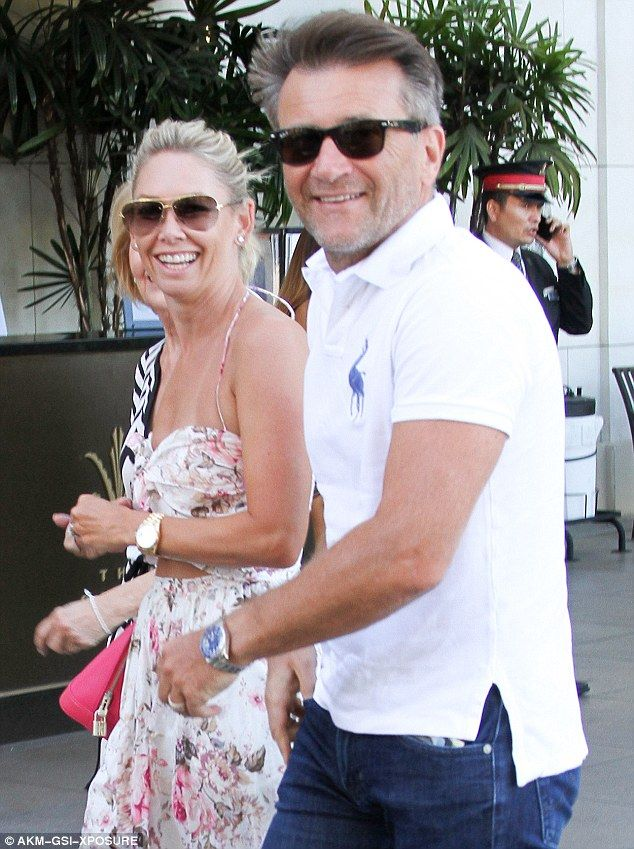 Newly married: Kym Johnson and Robert Herjavec went to an outdoor mall in Los…