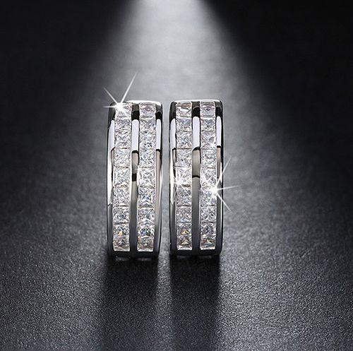 Arista Gems Cubic Zircon Hoop Earrings