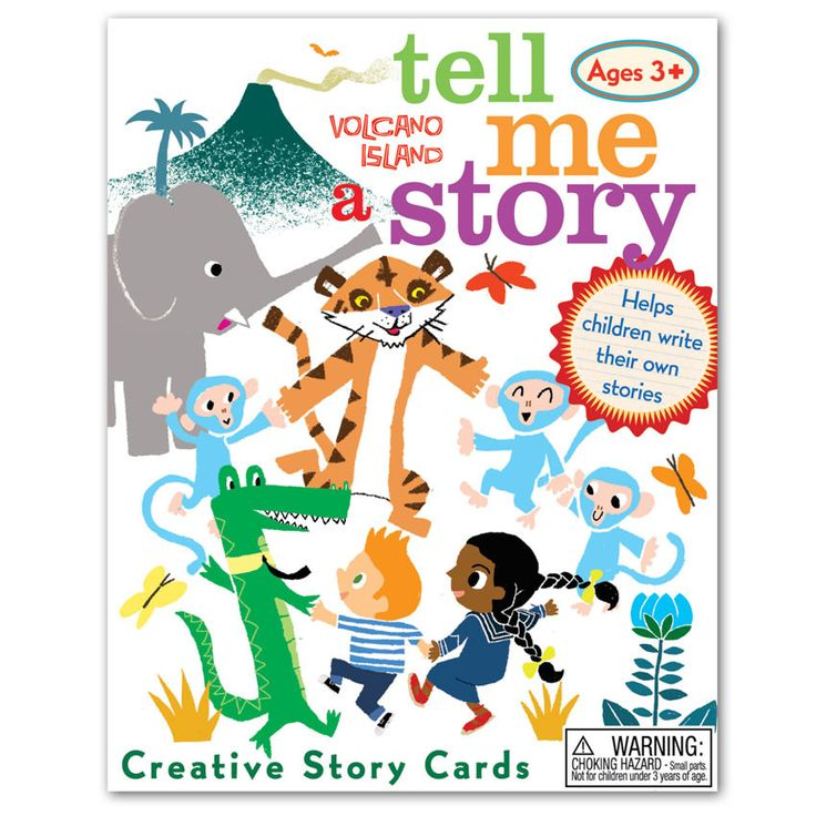 EeBoo Volcano Island Tell Me A Story Creative Cards