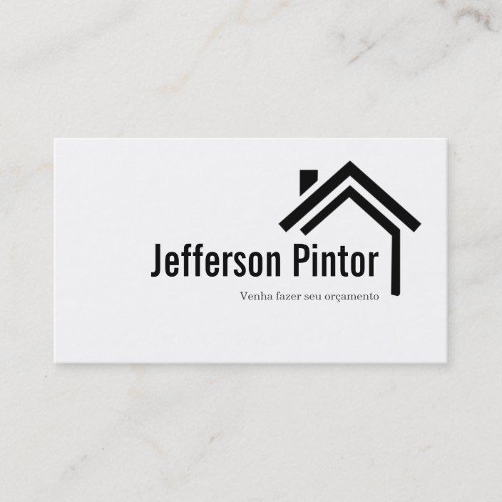 House Home Remodeling Renovation Construction Business Card Zazzle Com Construction Business Cards Construction Renovation Construction Business