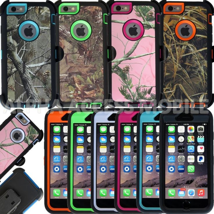 "Heavy Duty Hybrid Camo Case with Belt Clip For Apple iPhone 6 4.7"" & Plus 5.5"" #UnbrandedGeneric"