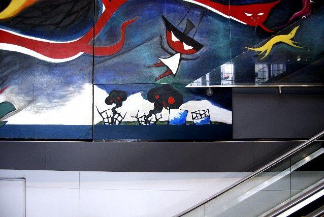 """Chim↑Pom """"LEVEL7 feat. Myth Of Tomorrow (Ashita no Shinwa )""""  2011 at Shibuya Station Tokyo"""