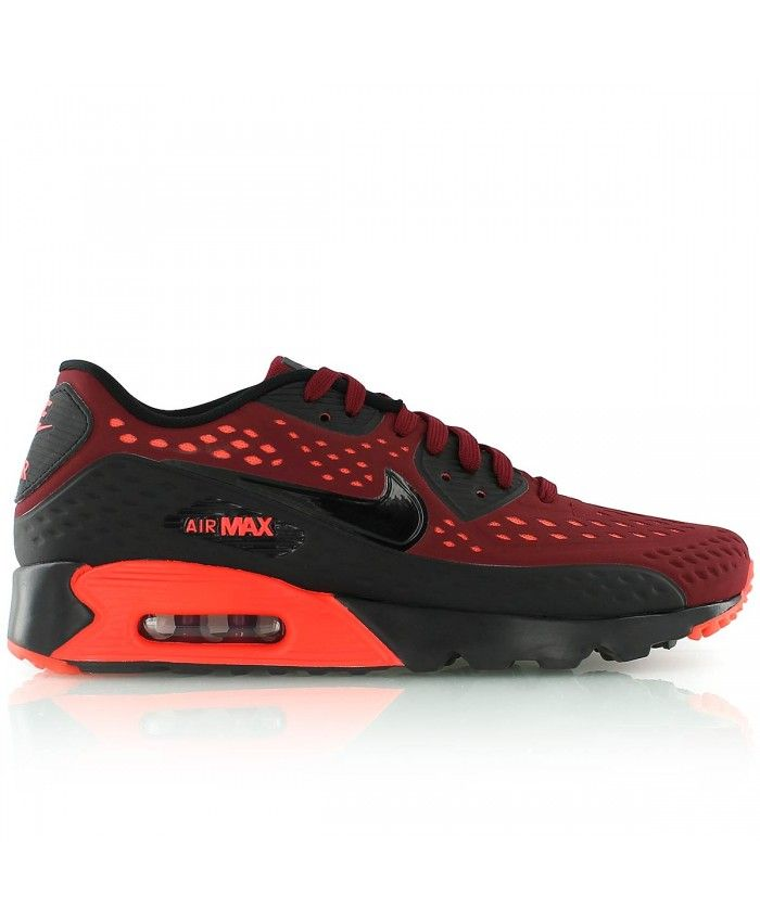 quite nice 42d65 29b73 Nike Air Max 90 Ultra Breathe Team Black And Red Shoes Sale