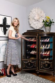 Superieur Shoe Storage   I Have Almost The Same Exact Vintage Cabinet .love This  Idea! I Have Decided That The Only Thing That Would Make This Idea More  Perfect Is ...