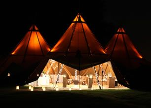 Gallery - Teepee Style Tents - Alternative to Marquees   PapaKåta