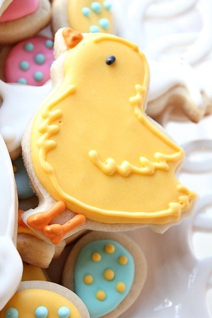 Easter Bunny & Chick Cookie Set w/ a dozen mini Easter Cookie Nibbles. $15.00, via Etsy.