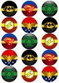 JUSTICE LEAGUE LOGO V3 SUPERHERO EDIB...