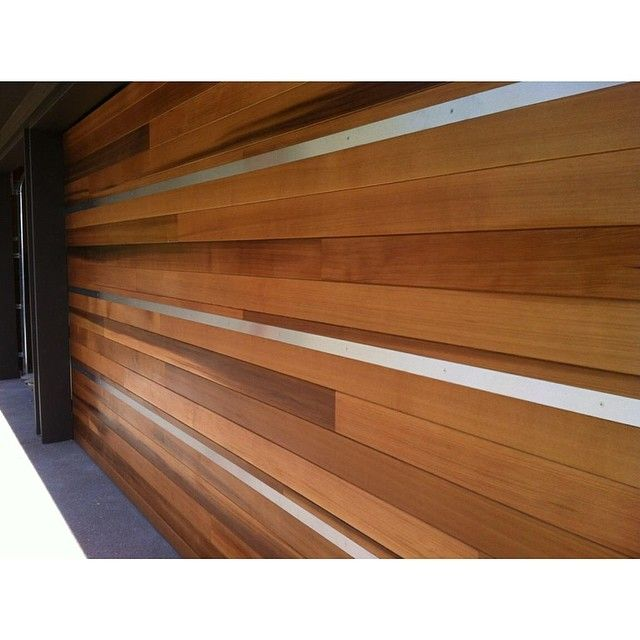 Garage Doors We Clad In Western Red Cedar With A Morticed