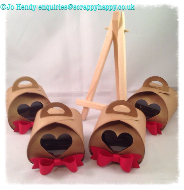 My Valentine heart boxes made using Stampin up curvy keepsakes box die