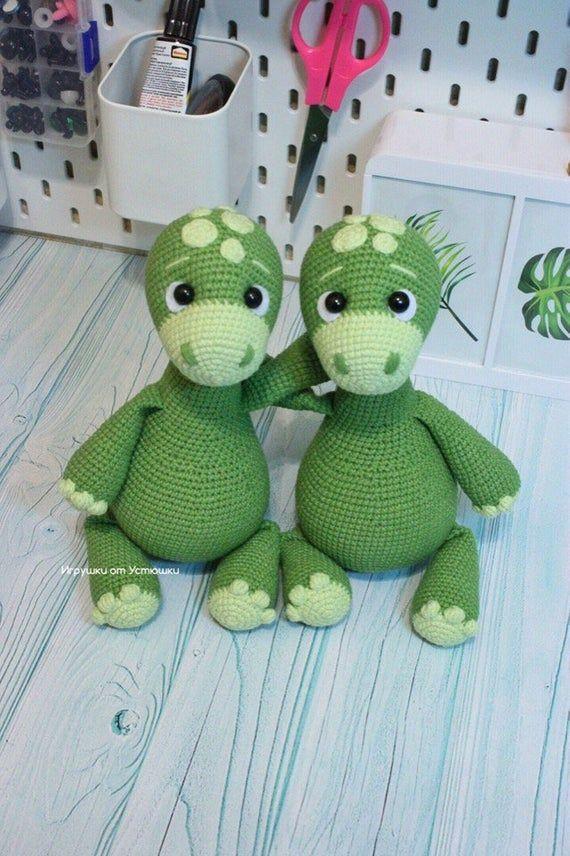 Crochet Pattern Dinosaur Lucky Amigurumi PDF Cute Green Dino ... | 856x570