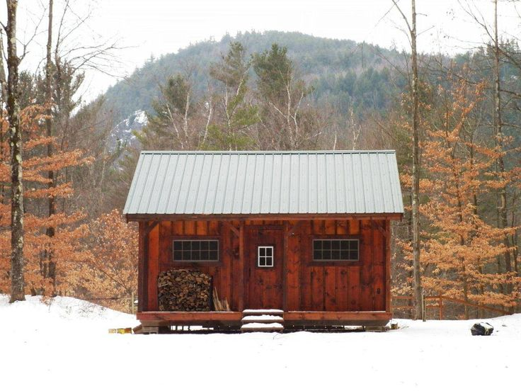 16x20 vermont cottage a kit 2 people 40 hours also for Vermont house plans