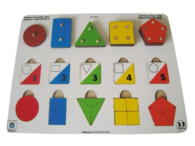 Interactuando con las figuras geométricas.  Ref 8-02571