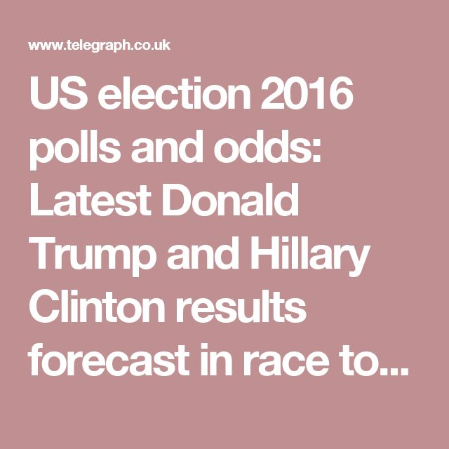 US election 2016 polls and odds: Latest Donald Trump and Hillary Clinton results forecast in race to be president