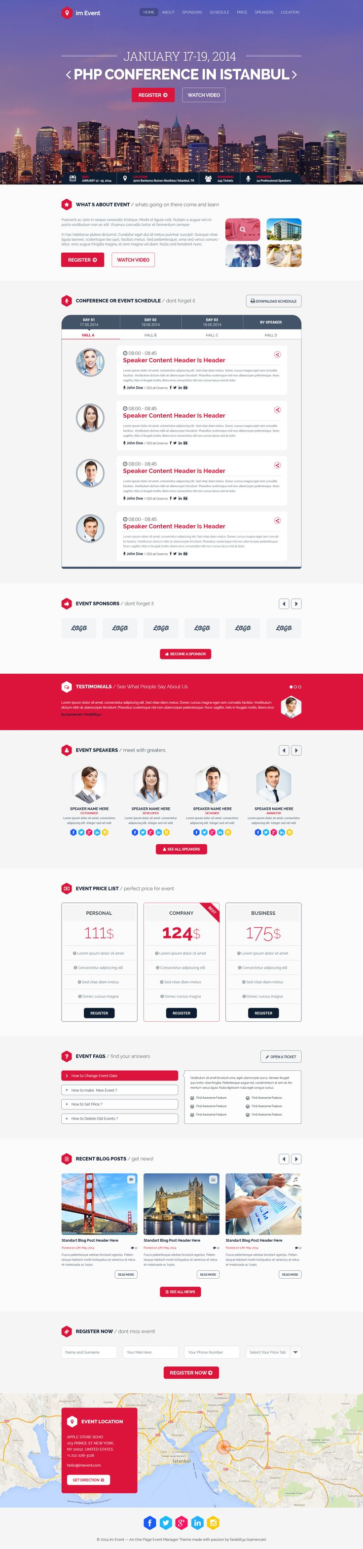 20 best event web templates images on pinterest psd templates im event one page event and conference template by faraklit34 themeforest pronofoot35fo Image collections