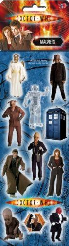 Doctor Who Slimline fridge magnet set: Amazon.co.uk: Kitchen & Home