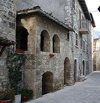 Castel Trosino, province of Ascoli Piceno. Le Marche, Italy.