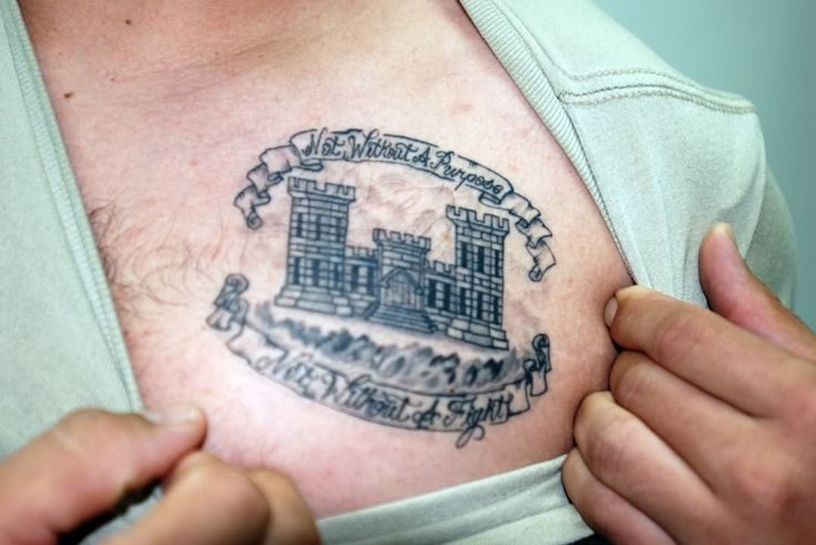 Army tattoo on chest tats pinterest for Combat engineer tattoo