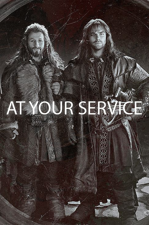 """Fili and Kili at your service!"" They can service me any day."