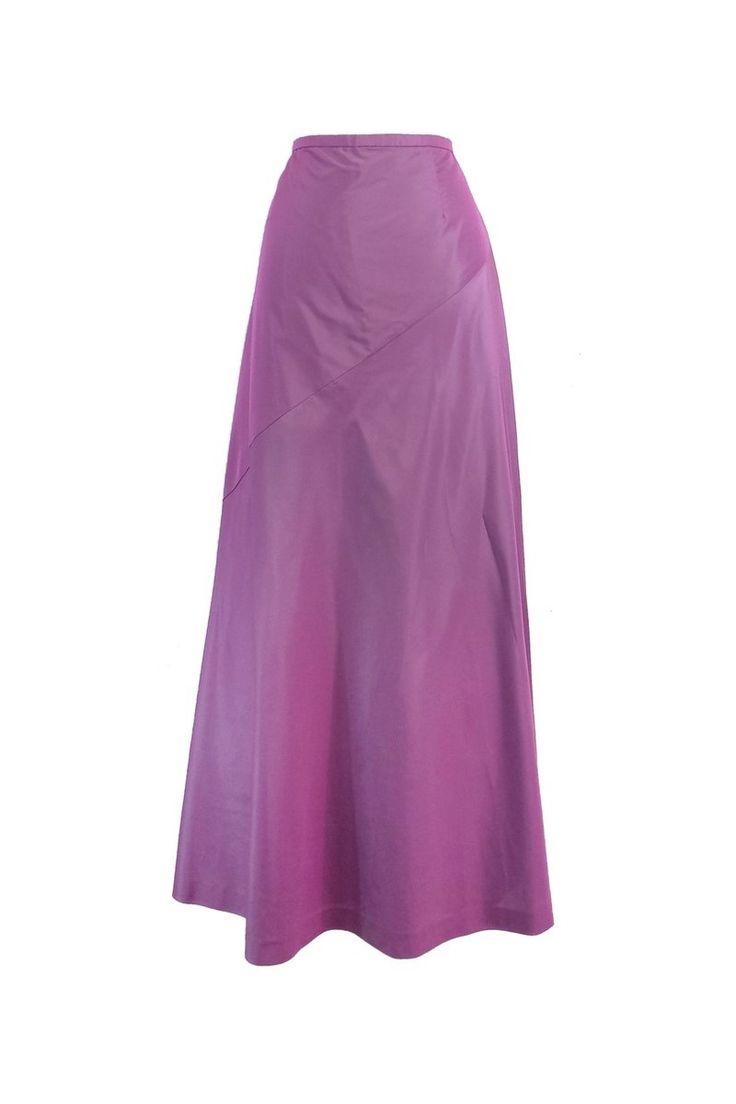 Giorgio Armani- Purple Silk Blend Maxi Skirt Sz 8   Current Boutique