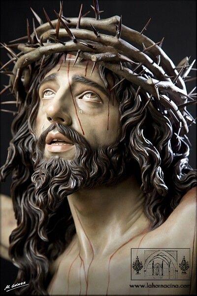 JESÚS, EL CRUCIFICADO. OBRA DE MARTÍN NIETO .    PERDÓNANOS, SEÑOR !!!!