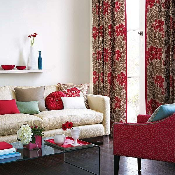 23 best red curtains images on Pinterest | Blinds, Floral curtains ...
