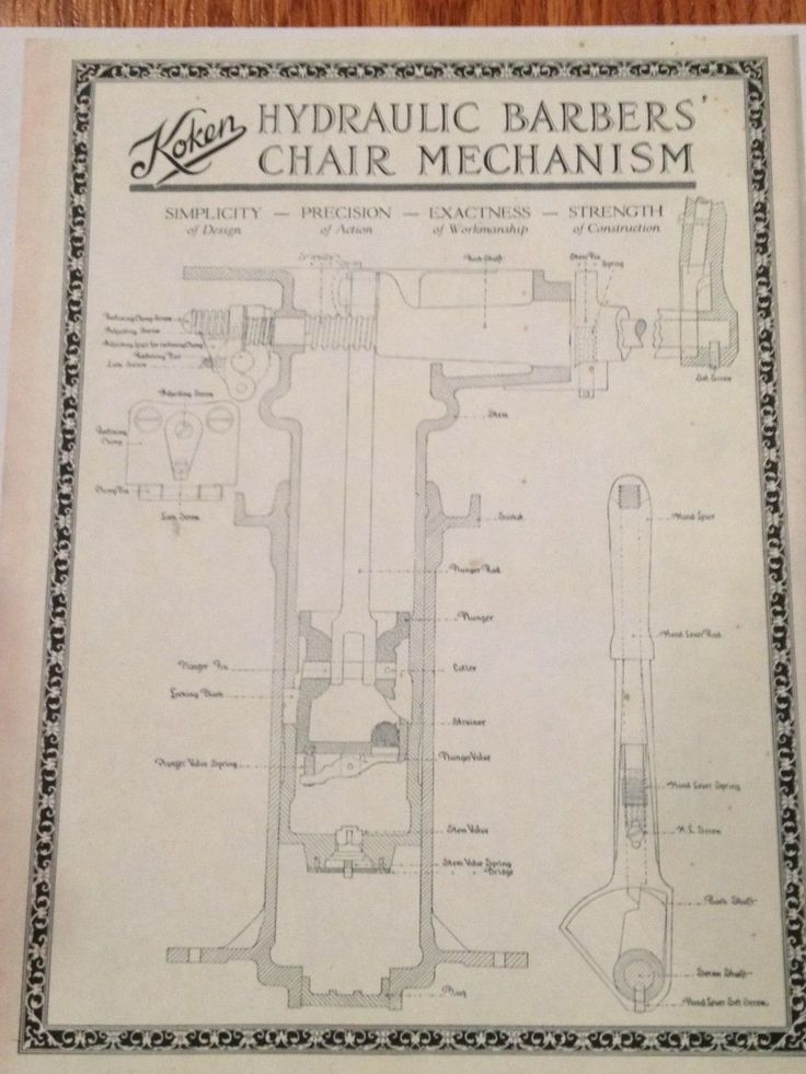 Antique KOKEN Barber Chair Hydraulic Schematic25  best Barber chair ideas on Pinterest   Barber shop chairs  . Ebay Barber Chairs Used. Home Design Ideas