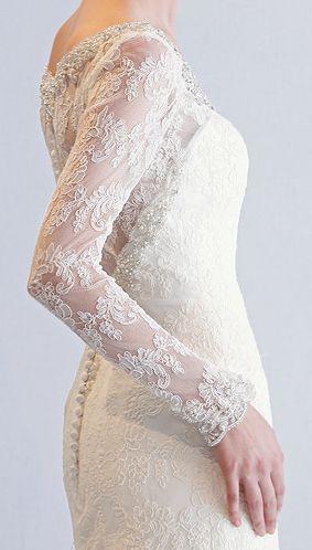 abiti da sposa in pizzo 2013 maniche lunghe