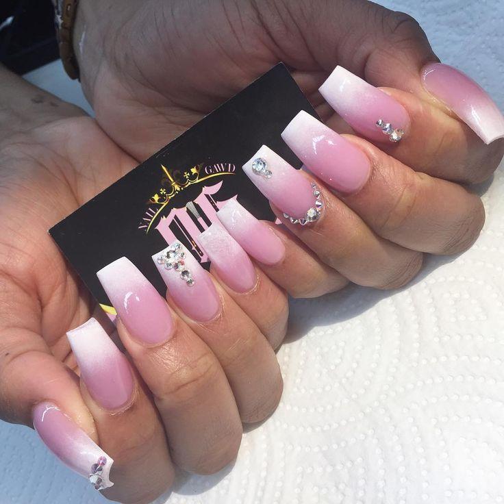 Spass Und Ziemlich Rosa Und Weissen Acryl Nagel Acryl Nagel Ziemlich Genel Pink White Nails Pink Nail Designs White Nail Designs