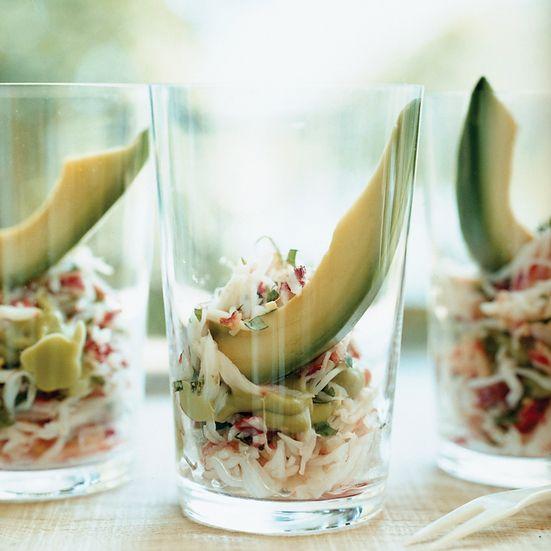 King Crab and Avocado Shooters Recipe - Valeria Huneeus   Food & Wine