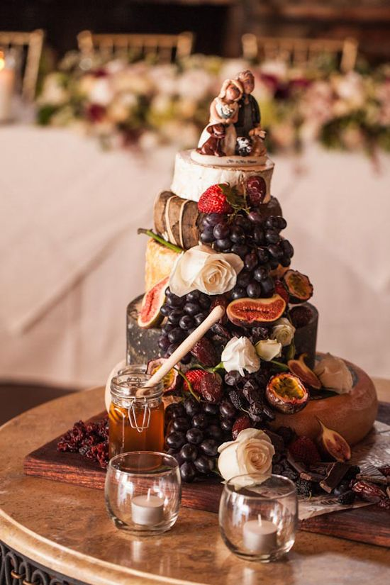 Autumn Cheese Wedding Cake #wedding #cake